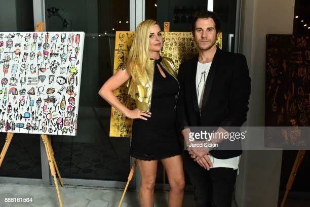 Lisa Falcone and Gregory Siff attend 4AM Presents Crash This A Private Exhibition Of New Paintings By Gregory Siff at Soho House Miami on December 7...
