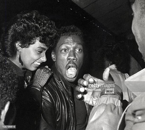 Lisa Figueroa and Eddie Murphy during Eddie Murphy Performs at The Comic Strip October 6 1984 at Comic Strip in New York City New York United States
