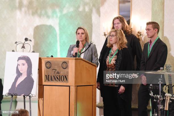 Lisa Fine Iris Scherman and Thomas Holgate Speak during the Christina Grimmie Foundation Fundraiser on March 10 2018 in Voorhees New Jersey