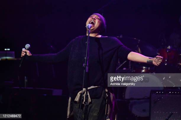 Lisa Fischer performs on stage during the Fourth Annual LOVE ROCKS NYC benefit concert for God's Love We Deliver at Beacon Theatre on March 12 2020...