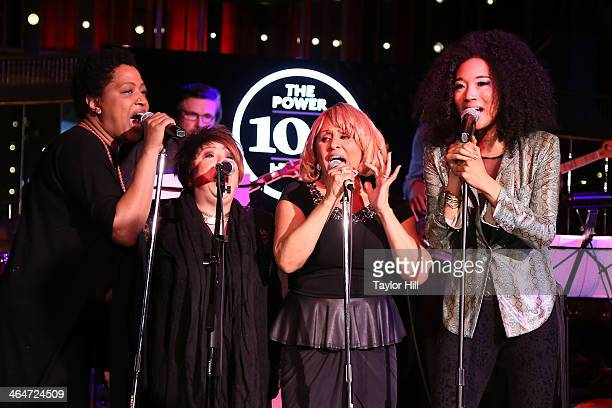 Lisa Fischer Tata Vega Darlene Love and Judith Hill perform during the 2nd annual Billboard Magazine Power 100 Cocktail Reception at Emerson Theater...