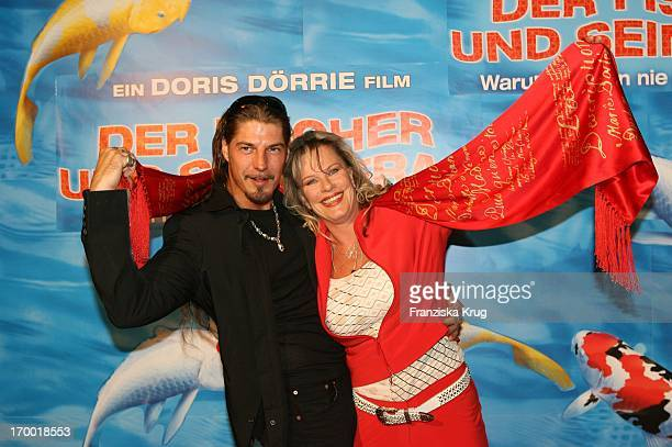 """Lisa Fitz And Friend Peter Knirsch At The Premiere Of """"The Fisherman And His Wife"""" In the cinema In Munich."""