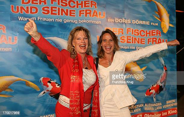 Lisa Fitz And Marie Theres Relin at the Premiere Of 'The Fisherman And His Wife' in Munich