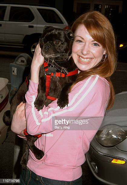 Lisa Foiles and Tito during Rescue Me Charity Benefit at Donald J Pliner Store in Beverly Hills CA United States