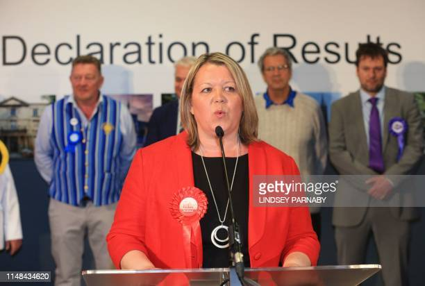 Lisa Forbes of the Labour Party accepts her win for the local seat after all votes are in and counted at the Kingsgate Conference Centre in...