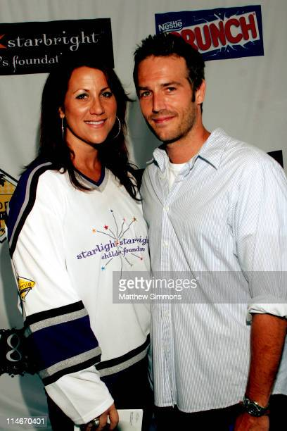 Lisa Foxx and Michael Vartan during 'Stars with Sticks' Annual Celebrity Hockey Classic at Toyota Sports Center in El Segundo California United States