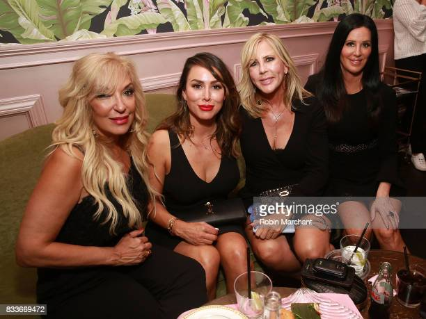 Lisa Galos Kelly Dodd Vicki Gunvalson and Patti Stanger attend WE tv's LOVE BLOWS Premiere Event at Flamingo Rum Club on August 16 2017 in Chicago...