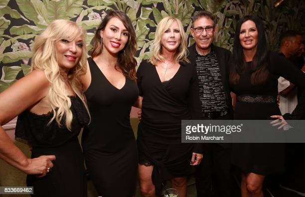 Lisa Galos Kelly Dodd Vicki Gunvalson Marc Juris and Patti Stanger attend WE tv's LOVE BLOWS Premiere Event at Flamingo Rum Club on August 16 2017 in...