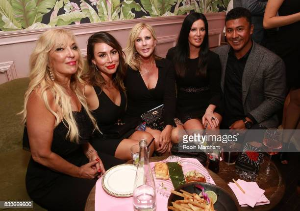 Lisa Galos Kelly Dodd Vicki Gunvalson Patti Stanger and Iggy Rodriguez attend WE tv's LOVE BLOWS Premiere Event at Flamingo Rum Club on August 16...