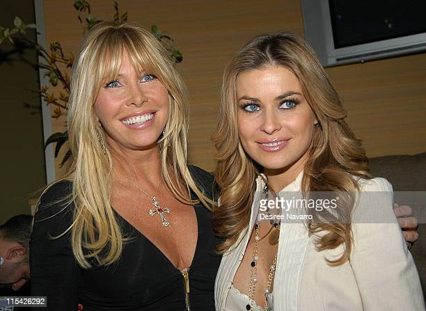 Lisa Gastineau and Carmen Electra during Carmen Electra Deals Ceremonial First Hand at Grand Opening of Foxwoods Resort Casino's New World Poker Tour...