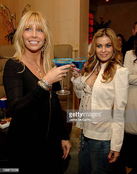 Lisa Gastineau and Carmen Electra during Carmen Electra Enjoys Foxwoods Resort's Signature $3000 Sapphire Martini at The Mezz Ultra Lounge March 23...