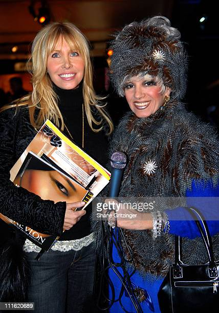 Lisa Gastineau and Cognac Wellerlane during Mercedes-Benz Fashion Week Fall 2007 - Seen Around Bryant Park - Day 9 at Bryant Park in New York City,...