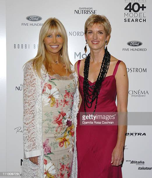 Lisa Gastineau and Peggy Northrop during The Winners of the 6th Annual More Magazine Wilhelmina 40 Model Search at Cipriani in New York City New York...
