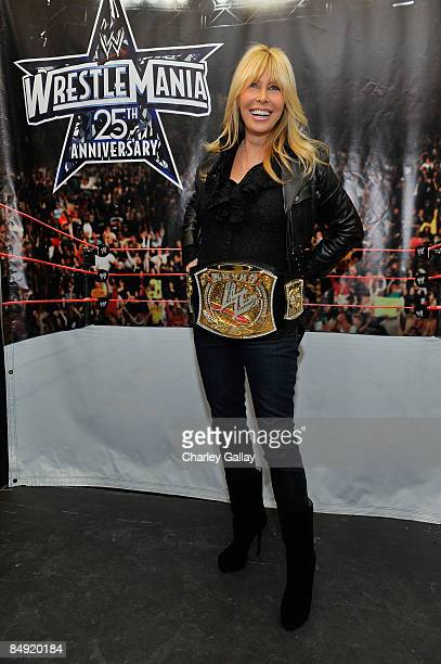 Lisa Gastineau attends WWE's opening night party honoring the 25th Anniversary of WrestleMania and 20th Century Fox/WWE's upcoming feature film '12...