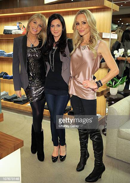 Lisa Gastineau boutique owner Rochelle Gores and television personality Taylor Armstrong attend the Holiday Shopping Event hosted by Real Housewife...