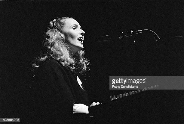 Lisa Gerrard, vocal, performs with Dead can Dance at Carre on 4th November 1990 in Amsterdam, Netherlands.