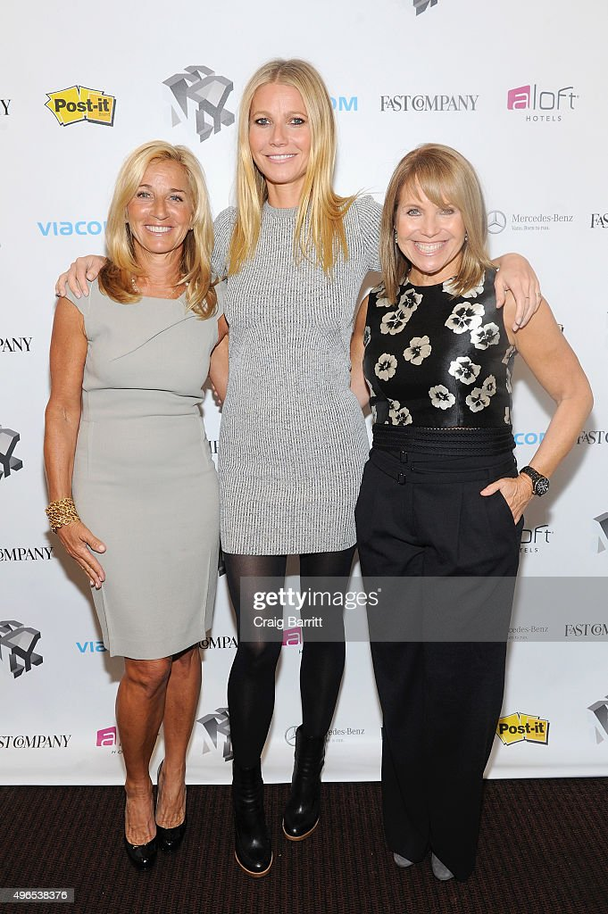 Lisa Gersh, Gwyneth Paltrow and Katie Couric appear during 'The Business Of Goop With Gwyneth Paltrow And Lisa Gersh, CEO Of Goop, Moderated By Yahoo's Katie Couric' at The Fast Company Innovation Festival on November 10, 2015 in New York City.