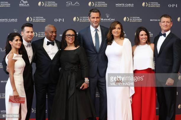Lisa Gomez US actor Jon Seda a guest US actress S Epatha Merkerson Peter Hermann US actress Mariska Hargitay Megan Coughlin and US actor Philip...