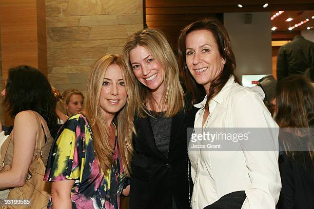 Lisa Gores Quinn Ezralow and Debbie Brady attend a private shopping event in support of cancer research at Martin Osa at the Century City Mall on...