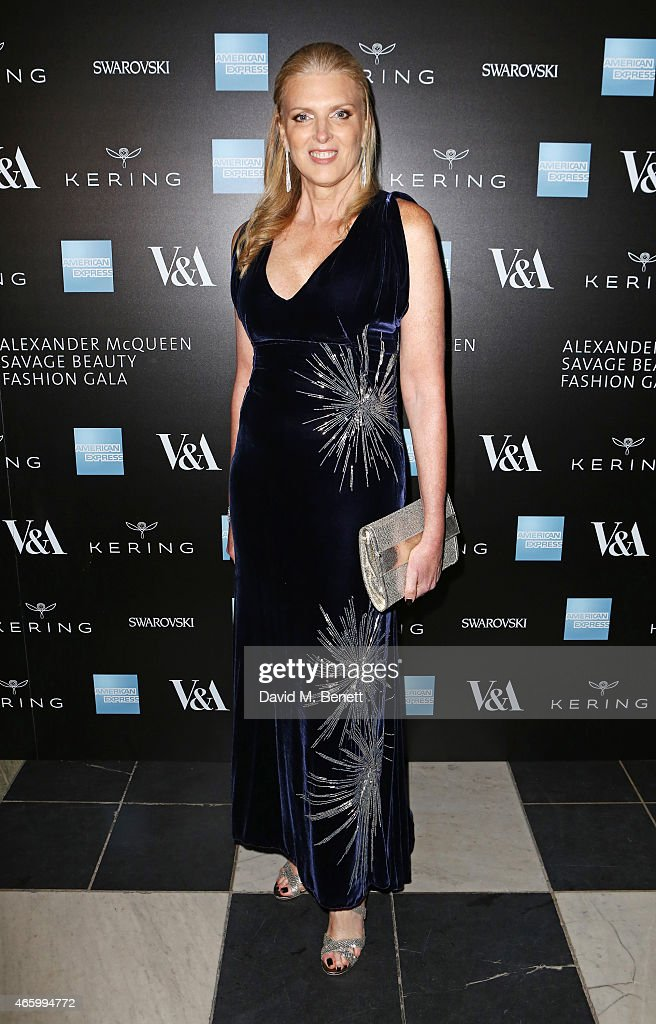 Lisa Gregg, VP of American Express, arrives at the Alexander McQueen: Savage Beauty Fashion Gala at the V&A, presented by American Express and Kering on March 12, 2015 in London, England.