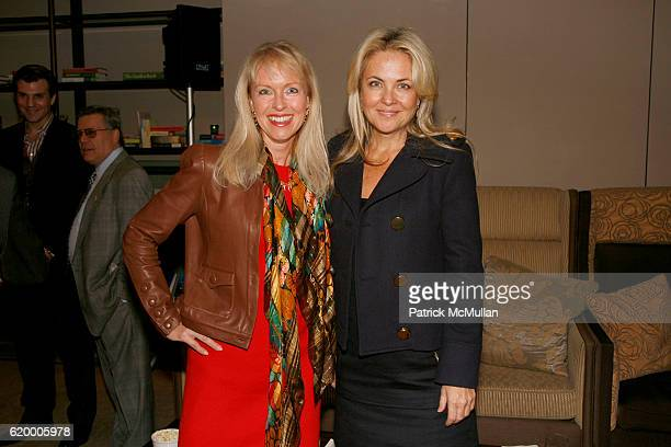 Lisa Guest and Cornelia Guest attend BARON JEAN VAN GYSEL and RICHARD STEINBERG host a Cocktail Party for V GREECE ON THE WORLD at Venue on October 8...