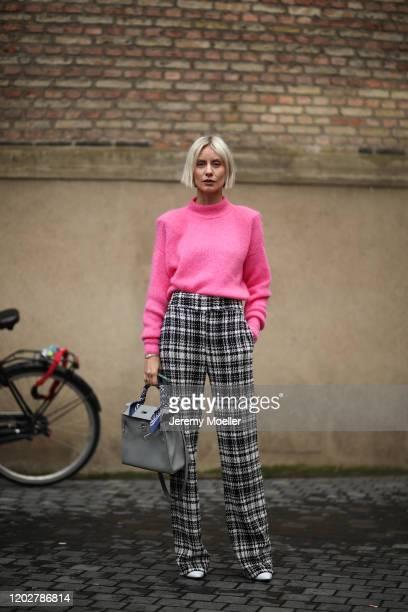 Lisa Hahnbück wearing a Hermes bag before Blanche on January 28, 2020 in Copenhagen, Denmark.