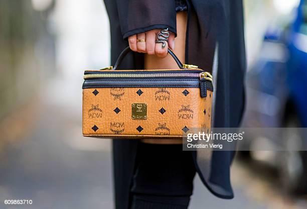Lisa Hahnbeuck wearing Talk About Sheer Dress shorts Levi's 501ct Bag MCM Rockstar Case / Vanity Case Overknees Christian Louboutin outside Fendi...