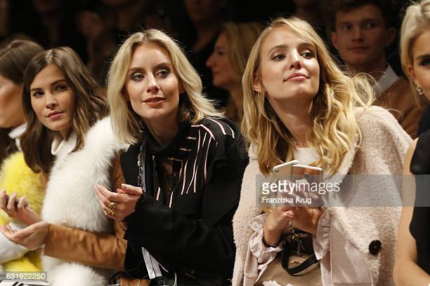 Lisa Hahnbueck and Leonie Hanne attend the Marc Cain fashion show A/W 2017 at Deutsche Telekom representation on January 17 2017 in Berlin Germany