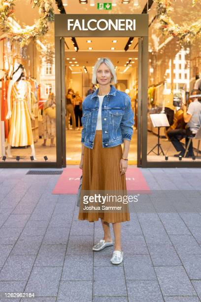 Lisa Hahnbueck is seen during the Falconeri store opening on July 31, 2020 in Dusseldorf, Germany.