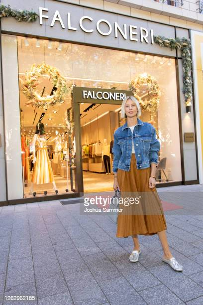 Lisa Hahnbueck is seen during the Falconeri store opening on July 31 2020 in Dusseldorf Germany