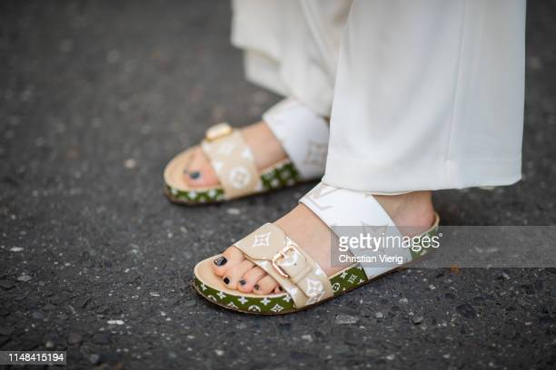 Lisa Hahnbueck is seen wearing Louis Vuitton sandals on May 05 2019 in Duesseldorf Germany
