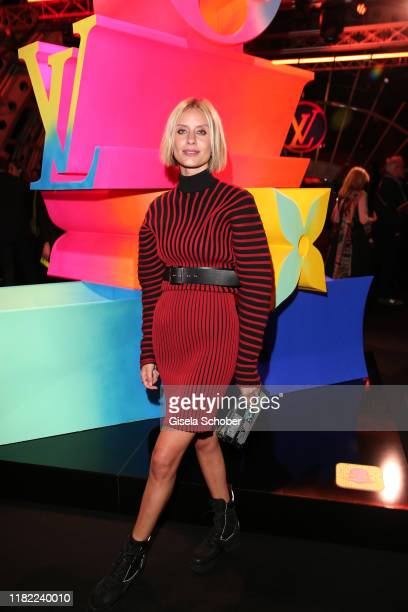 Lisa Hahnbueck, wearing a dress by Louis Vuitton, during the Louis Vuitton Store opening at KaDeWe on November 12, 2019 in Berlin, Germany.