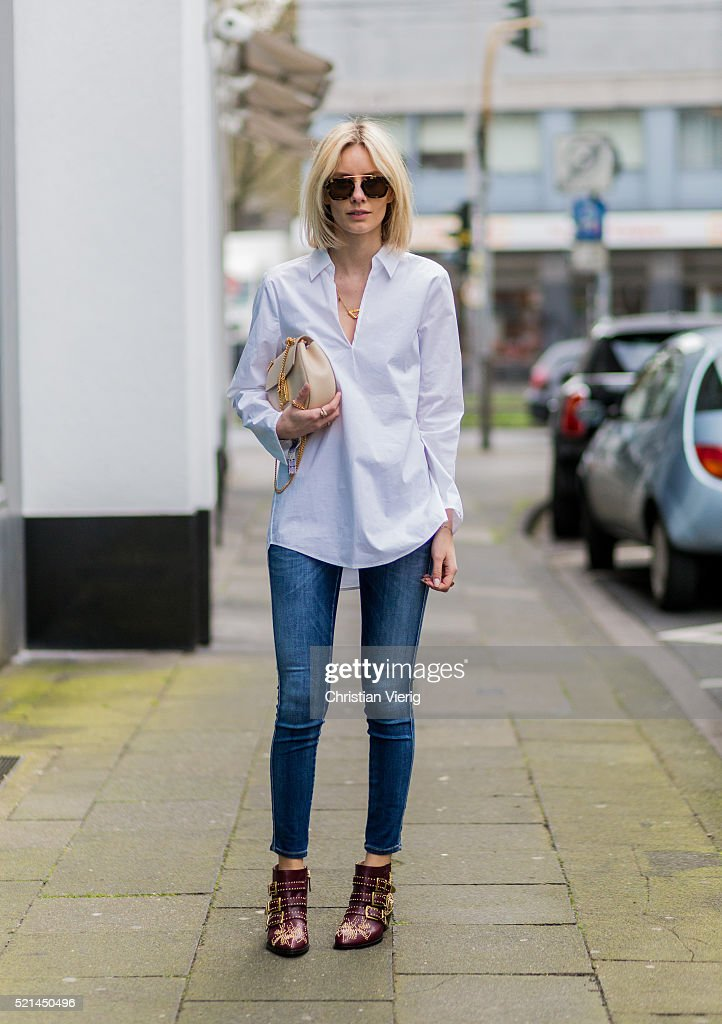 Street Style In Cologne - April, 2016 : News Photo