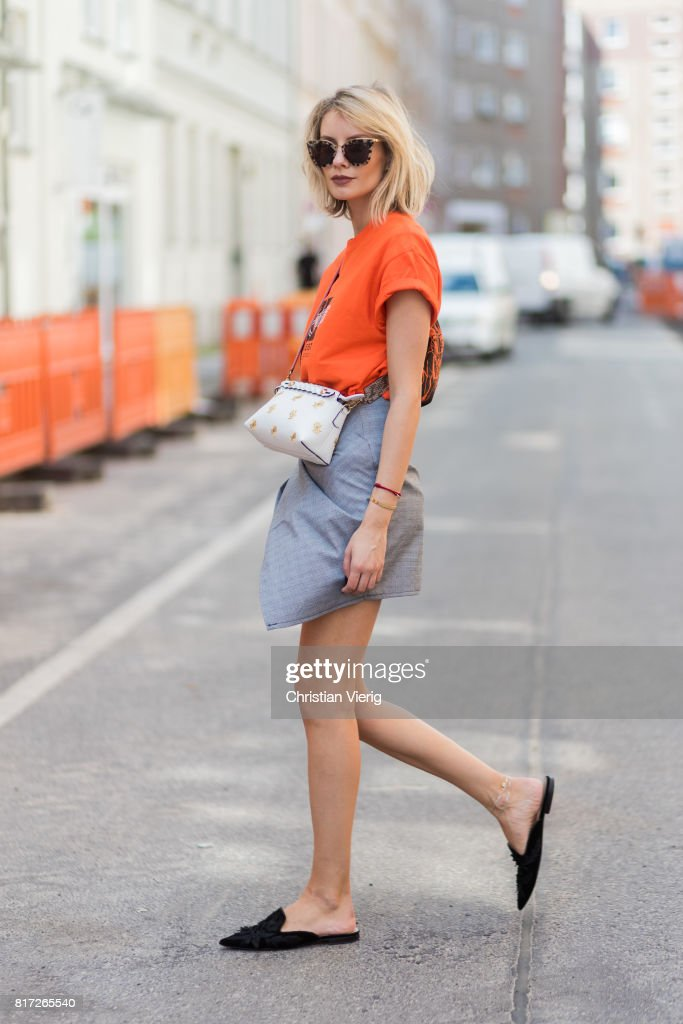Street Style In Berlin - July 2017 : News Photo