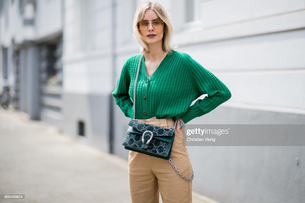 Street Style - Duesseldorf - May 3, 2018 : News Photo