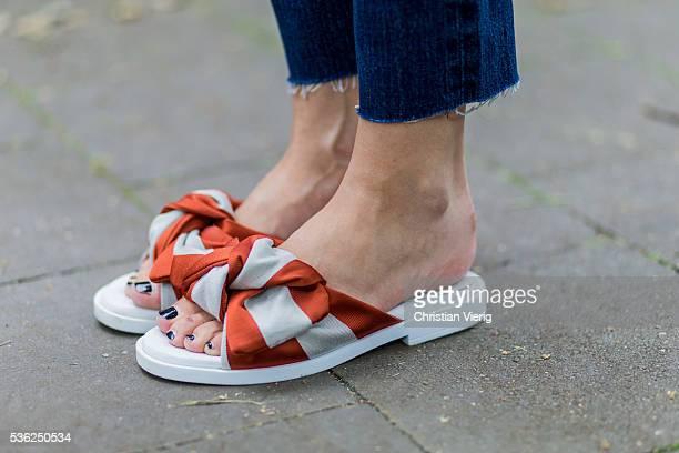 Lisa Hahnbueck wearing Louboutin slipper on June 1 2016 in Duesseldorf Germany