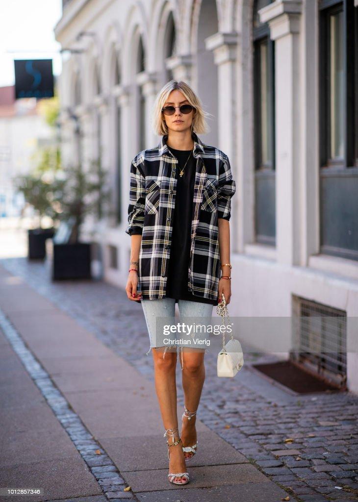 Street Style - Copenhagen Fashion Week Spring/Summer 2019 - Day 1 : News Photo