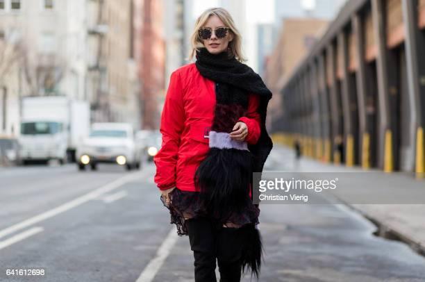 Lisa Hahnbueck wearing Tommy Hilfiger Jacket Iro Dress Stuart Weitzman Overknee Alllegs Saint Laurent MONOGRAM SAINT LAURENT UMSCHLAGPORTEMONNAIE AUS...