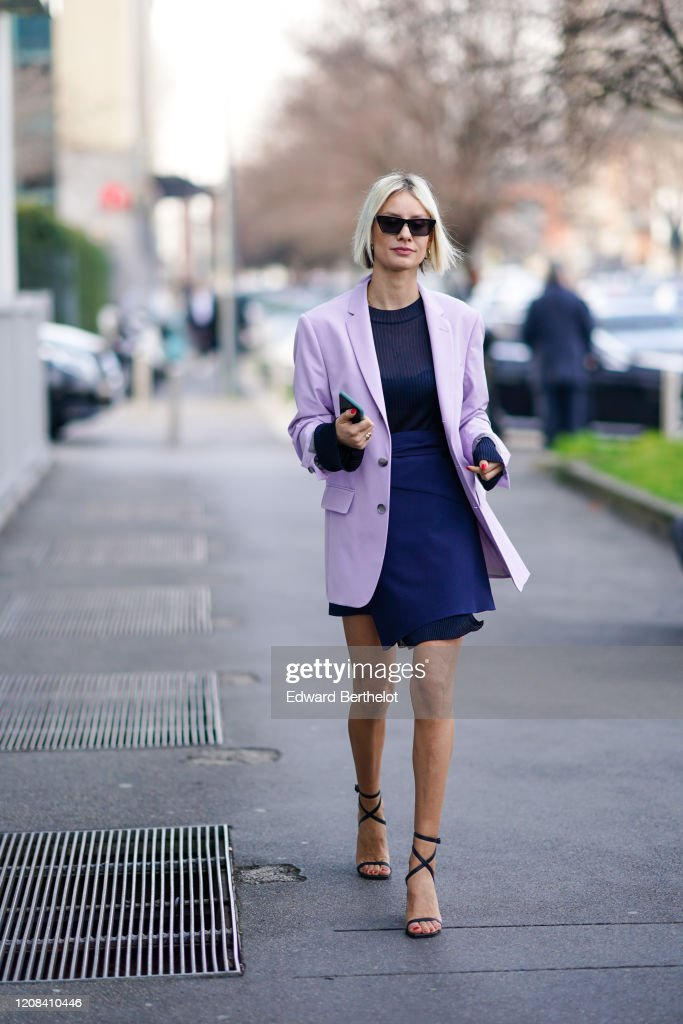 Street Style: February 23rd - Milan Fashion Week Fall/Winter 2020-2021 : News Photo