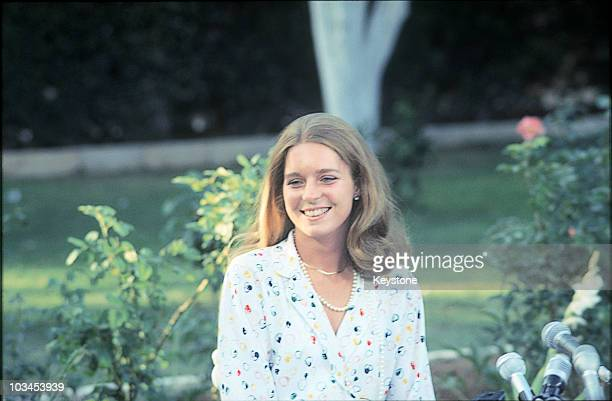 Lisa Halaby fiancee of King Hussein of Jordan on June 12 1978