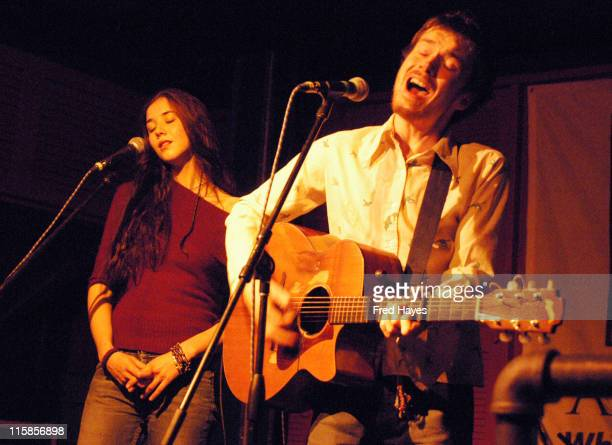 Lisa Hannigan and Damien Rice during 2003 Sundance Film Festival Jonny Lang Emmylou Harris and Others Perform at the Sundance ASCAP Music Cafe at...
