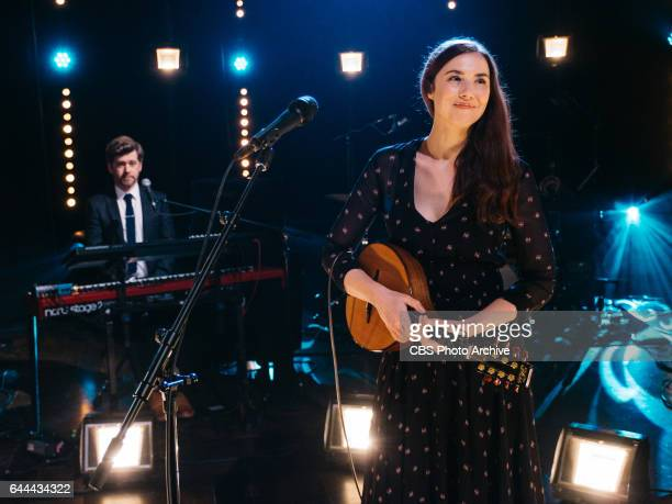 Lisa Hannigan performs during The Late Late Show with James Corden Tuesday February 14 2017 On The CBS Television Network