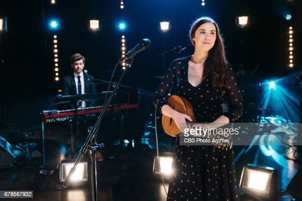 Lisa Hannigan performs during The Late Late Show with James Corden Monday May 1 2017 On The CBS Television Network