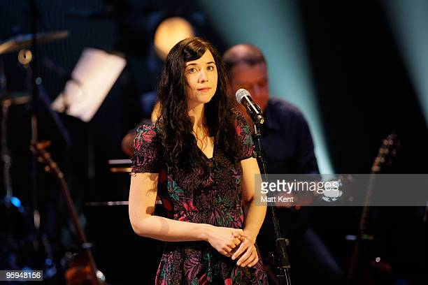 Lisa Hannigan performs on stage at Barbican Centre on January 22 2010 in London England