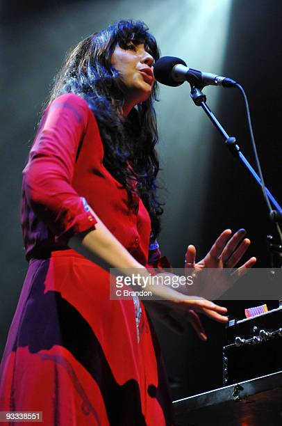 Lisa Hannigan performs on stage at the Royal Festival Hall on November 23 2009 in London England