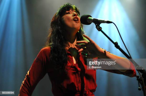 Lisa Hannigan performs on stage at the Royal Festival Hall on November 23, 2009 in London, England.