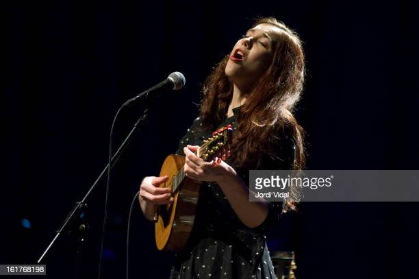 Lisa Hannigan performs on stage during Festival del Millenni at L'Auditori on February 15 2013 in Barcelona Spain