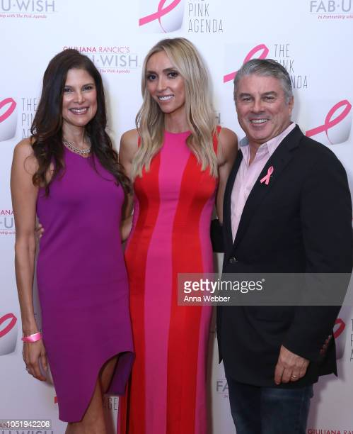 Lisa Harbert Giuliana Rancic and Ted Harbert attend The Pink Agenda's Annual Gala at Tribeca Rooftop on October 11 2018 in New York City