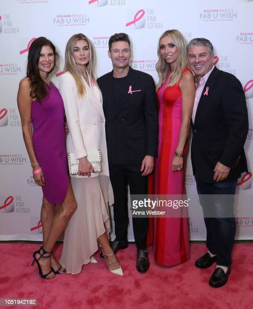 Lisa Harbert Shayna Taylor Ryan Seacrest Giuliana Rancic and Ted Harbert attend The Pink Agenda's Annual Gala at Tribeca Rooftop on October 11 2018...