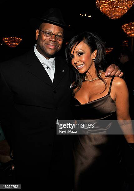 Lisa Harris and producer Jimmy Jam at the 52nd Annual GRAMMY Awards Salute To Icons Honoring Doug Morris held at The Beverly Hilton Hotel on January...